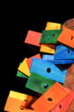plankjes hout gekleurd bij Dieca 2