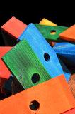 plankjes hout gekleurd bij Dieca 1