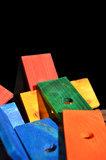 plankjes hout gekleurd bij Dieca 4