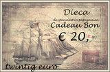 3* Dieca cadeaubon € 20,-_