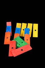 Gekleurde Plankjes Medium F