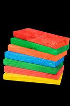 Gekleurde Plankjes Large E
