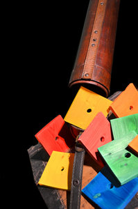 vierkante planken voor papegaai bij Dieca 1