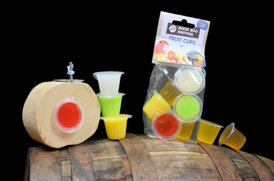 Fruit cups gemengd 6 stuks met houder