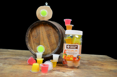 Fruit cups gemengd 24 stuks met houder